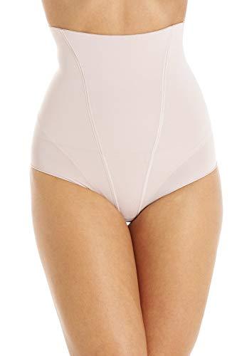 Camille Beige Cintura Alta Suave Sin Costuras Pantalones Cortos 40