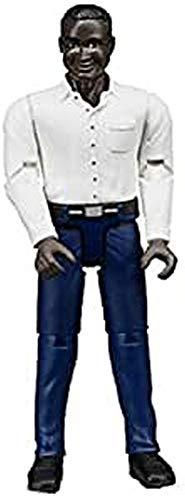 Bruder 60004 bworld Man Dark Skin Dark Blue Jeans Toy Figure