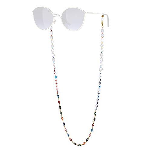 KANYEE Retenue De Lunettes De Perle Lettres Mixte Perles Chaînes De Lunettes Bon Design Colliers De Lunettes -19C