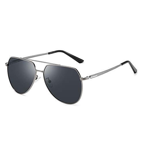 JOEYFAYE Modische polarisierte Sonnenbrille Herren, Metalltempel, Farbwechselgläser, geeignet für Outdoor-Aktivitäten wie Radfahren, Camping, Angeln usw.