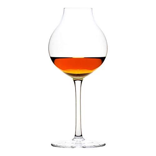 BWM - Copa de whisky de cristal, Petaca de hierro caja de regalo, 245mL