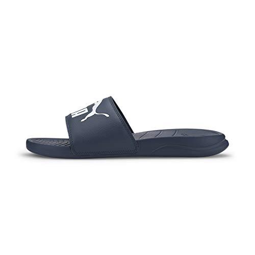Puma - Popcat 20, Zapatos de Playa y Piscina Unisex Adulto, Azul (Dark Denim-Puma White 03), 42 EU