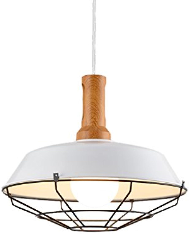 JIAHONG Kreatives LED-Eisen-Fertigkeit-Kronleuchter-Netz-Abdeckung Hoch Transparentes Restaurant-Stab-Retro- Kronleuchter, Loft-Gaststtte-Decken-Licht ( Farbe   Weiß )