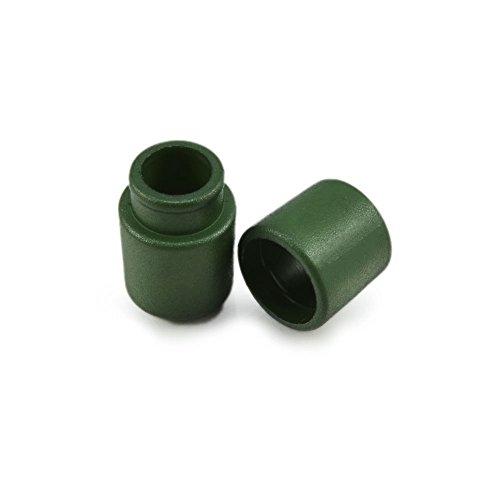 Ganzoo 10er Set Verbinder/Kordelverbinder,rund, zum verknüpfen von Paracord 550, aus Kunststoff für Paracord Armbänder, Kordeln etc, 2-teilig, Farbe: dunkel grün- Marke