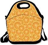 Bolsas de almuerzo naranja con correa para la escuela, picnic, trabajo, lonchera, bolsos elegantes para los niños
