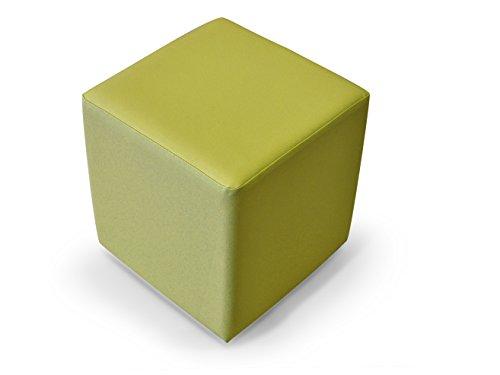 moebel-eins KUBUS Sitzwürfel Bandscheibenhocker Sitzhocker Fußhocker in grün 35x40x35 cm, grün