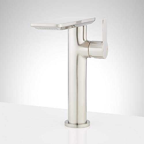 Signature Hardware 947995 Hollyn 1.2 GPM Single Hole Vessel Bathroom Faucet with Pop-Up Drain Assembly