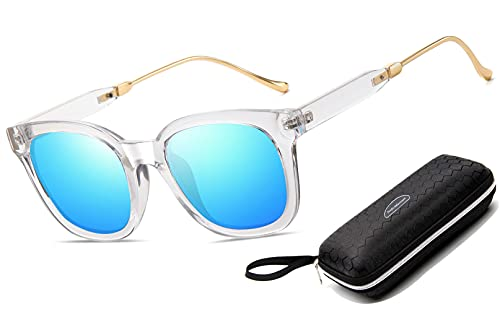 Perfectmiaoxuan Pack de 3 Gafas de Sol Hombre Mujer Polarizadas CAT 3 CE UV400 Gafas retro clásicas Conducción Correr Ciclismo Pesca Golf Verano Turismo Gafas de sol (1 pack (Blue B))