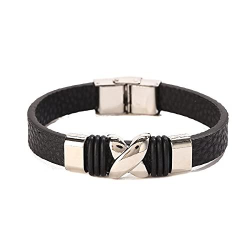 Pulsera de pareja de moda simple de comercio exterior, nueva pulsera de acero inoxidable para hombres y mujeres, venta al por mayor fresca