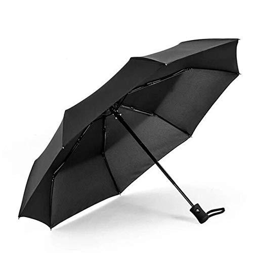 NJSDDB paraplu Hot Populaire Automatische paraplu Winddichte Mens Zwart Compact Breed Auto Open Dicht Lichtgewicht, Zwart
