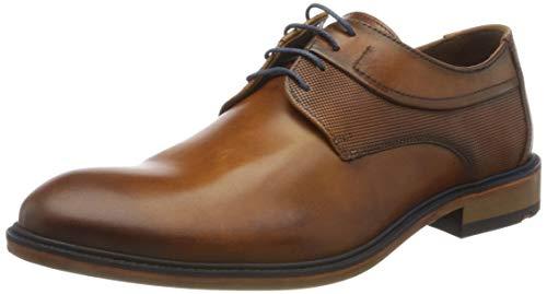 LLOYD Miguel, Zapatos de Cordones Derby Hombre, Braun Cognac 2, 46 EU
