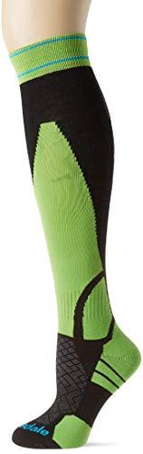 Bridgedale Ski LW, calzetti Unisex-Adulto, Nero/Verde, Taglia Unica
