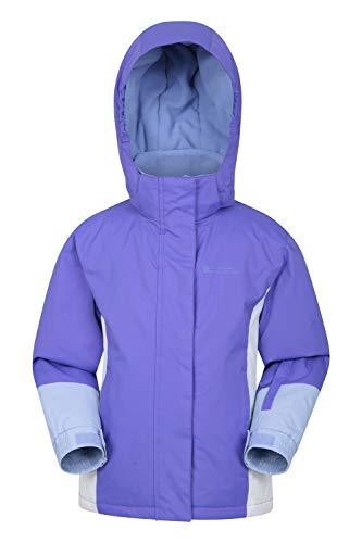 Mountain Warehouse Honey Kids Ski Jacket - Winter Snow Coat for Snowboarding Purple 7-8 Years