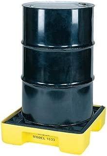 Eagle 1633 Yellow and Black Polyethylene Single Drum Modular Spill Platform with Grating, 2000 lbs Load Capacity, 26
