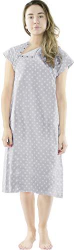 Utopia Care Hospital Gown, 100% Cotton Patient Gown