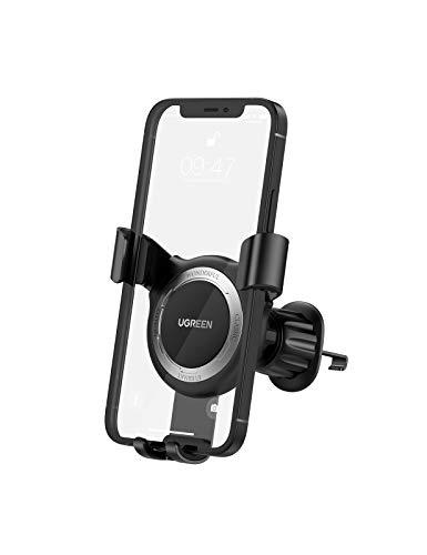 UGREEN Handyhalterung Auto Lüftung Autohalterung Handyhalter fürs Auto KFZ Halterung Automatisch Waagerecht kompatibel mit iPhone 12 Pro Max 11 XR XS SE, Galaxy S20 fe A50, Huawei, Xperia, bis 7 Zoll