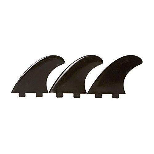 Eurofin E4 FCS compatible surfboard fin. - Black