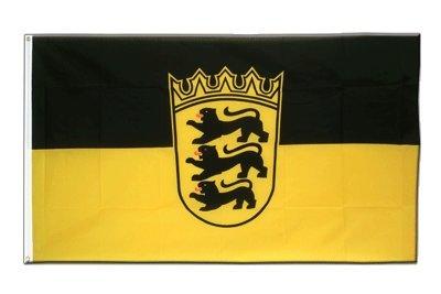 Deutschland Baden Württemberg Flagge, württembergische Fahne 90 x 150 cm, MaxFlags®