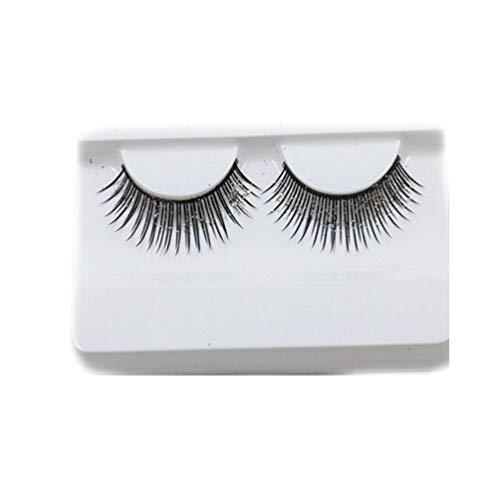 3 Paires De Faux Cils Coton Fil Potences Exagéré Lashes 3D Long Et Épais Glitter Nightclub Maquillage De Scène Des Yeux