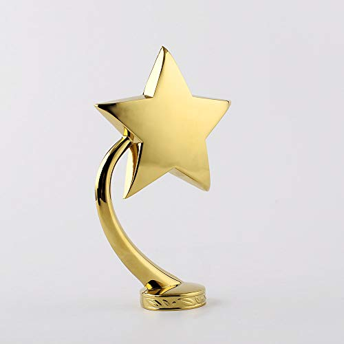 LBSST Accesorios de trofeo de metal con estrella de cinco puntas de aleación de metal pilar base