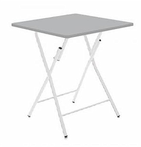 PEGANE Table Pliante Grise, 60 x 60 x 75 cm