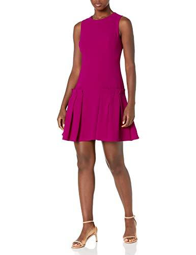 Eliza J Women's A Line Sheath Dress with Pleated Attachments, Magenta, 12