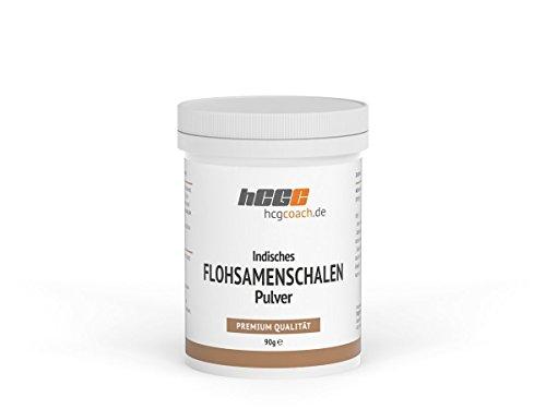 hCGC® Indisches Flohsamenschalen Pulver (90g) | Optimal für die 21 Tage Stoffwechselkur | Vegan | Made in Germany
