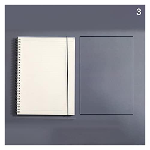 siqiwl Cuaderno Cuaderno de Hojas Sueltas Recambio carpolla Espiral Página Interna Diario Línea de Dot Grid (Color : A3)