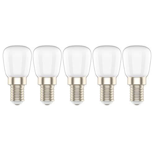 5X E14 Kühlschrankbirne LED 3W Warmweiß 3000K Kühlschranklampe 200LM Äquivalent zu 20W Halogen AC220V-240V für Kronleuchter, Wandlampe, Kühlschrank und Dunstabzugshaube