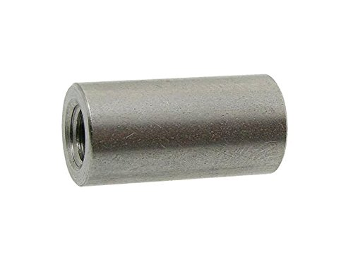 Preisvergleich Produktbild 10 Stk. Rund-Muffen A2 M 8X40 d=11 Gewindemuffen rund-A2