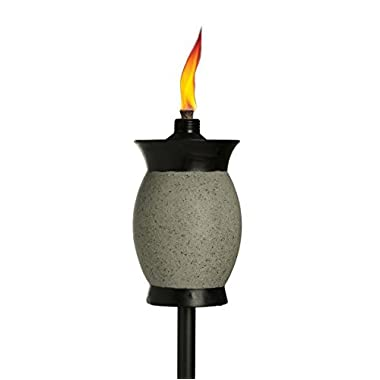Tiki Brand 64-inch Resin Jar Torch 4-in-1 Graphite Gray Color