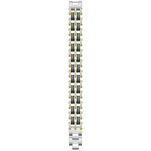 Invicta 30342 Men's Elements Yellow Gold, Black & Silver Tone Bracelet