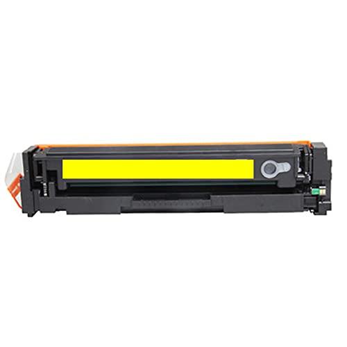 Compatible con HP 201A Cartucho de tóner de repuesto para HP Color Laserjet Pro M252N 252DW MFP M277N 277DW 274N, Home Office, resistente a la decoloración y suave, color amarillo
