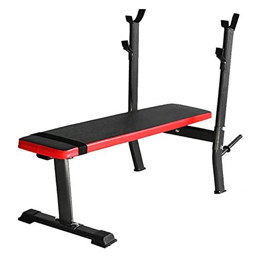Banco de pesas Banco de entrenamiento estándar con estación de inmersión Banco de levantamiento de pesas plano plegable ajustable Banco de entrenamiento multiusos de entrenamiento para trabajo pesado
