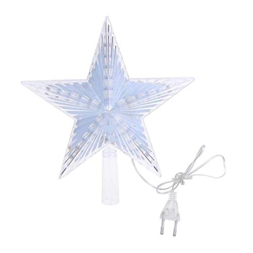 Zonster Christmas Tree Topper Lights Led Light Up Lighted Star Christmas Topper for Indoor Outdoor Christmas Decorations Led Treetop Star Ornament with Plug