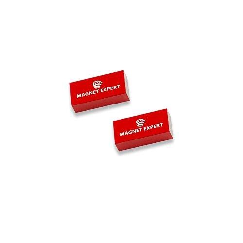 Magnet Expert® 2x Alnico Rechteckige Bar Magnete - 0.1kg Pull (10 x 5 x 20 mm)