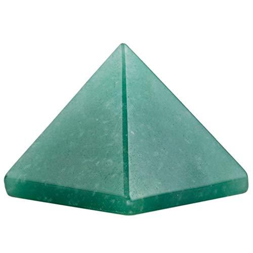 ZTTT Grüne Aventurin-Pyramide-Figur-Dekoration Edelsteinstein (Color : 2 Pc)