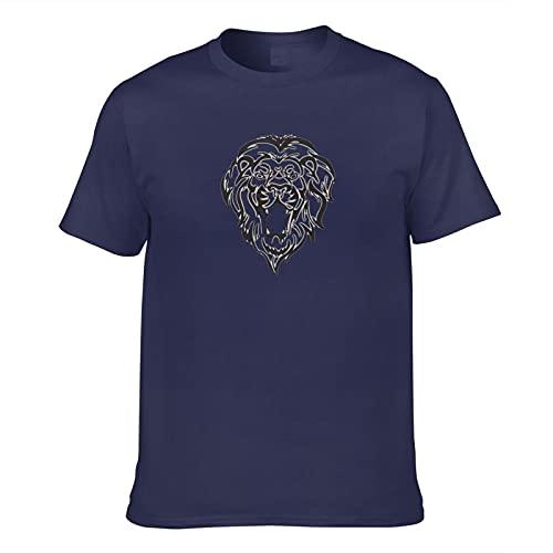Lion Outline Pattern camiseta de los hombres impresión 3D adulto manga corta moda casual camisetas