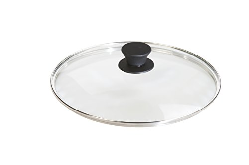 Lodge Tempered Glass Lid (10.25 Inch) – Fits Lodge 10-10.25 Inch Cast Iron Skillets and 5 Quart Dutch Ovens