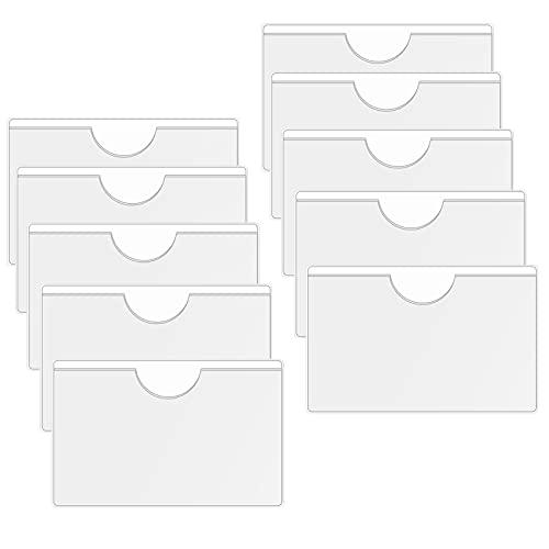 inodiref Allbor 10 Pièces Parking Permit Holder Titulaire de Permis de Stationnement, Pochette Adhésive Transparente pour Pare-Brise Voiture Les Permis, Badges et Passeports, 13.3 x 10.3 cm