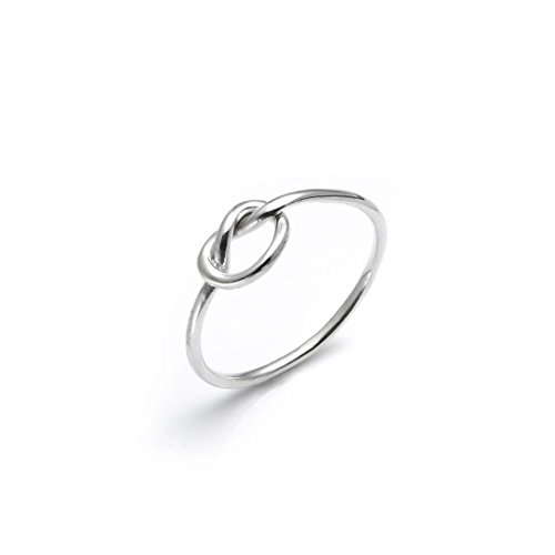 Silverly Frauen .925 Sterling Silber Liebes Knoten Ring