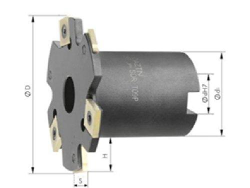 Scheibenfräser m. Bd. D 100 x 6 mm Z 10