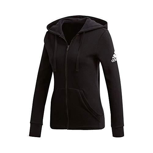adidas Damen Essentials Solid Sweatshirtjacke, schwarz, XS