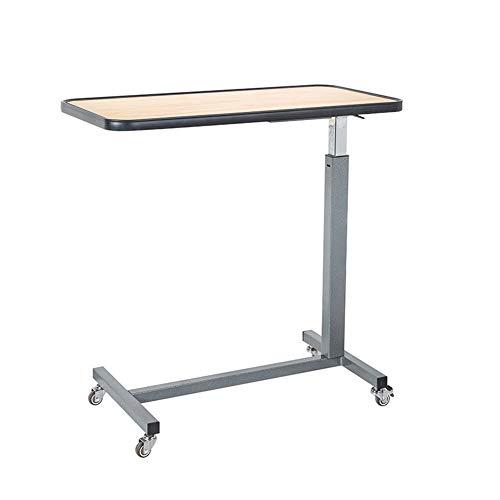 Ajustable Mesa De Ordenador Portatil, Escritorio Portátil con Ruedas, Puede Ser Utilizado for El Cuidado del Paciente, Regulable En Altura Mesa Auxiliar de Cama Plegable (Color : Colour B)