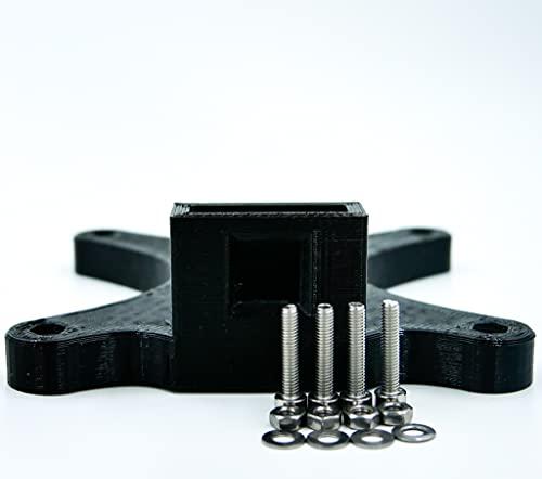 Adaptador VESA 100 x 100 mm para monitores HP 24f, 24fw, 24es, 24er, 27er, 27f, 27fw, 27es, PETG, impresión 3D, incluye juego de tornillos (negro, 100 x 100 mm)