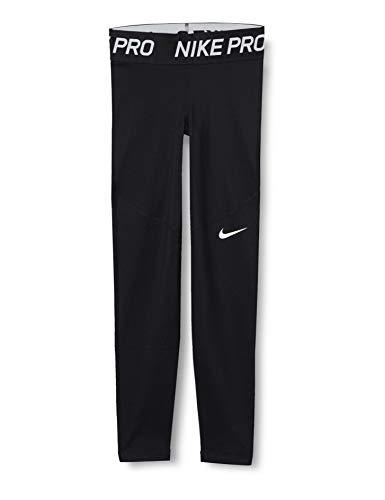 NIKE G NP Warm Tight Sport Trousers, Niñas, Black/Black/White, S