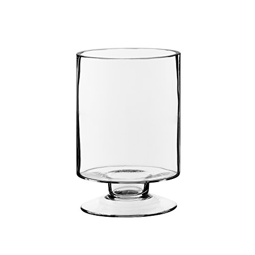 CYS EXCEL Glass Candle Holders, Hurricane Candle Holder, Trifle Dessert Tray, Stemmed Candle Holder (Series (1) 3.75