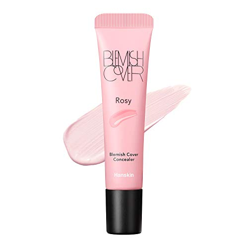 Hanskin Rosy Blemish Cover, Dark Circle Cover, Full Coverage Color Correcting Concealer [Rosy/9g]