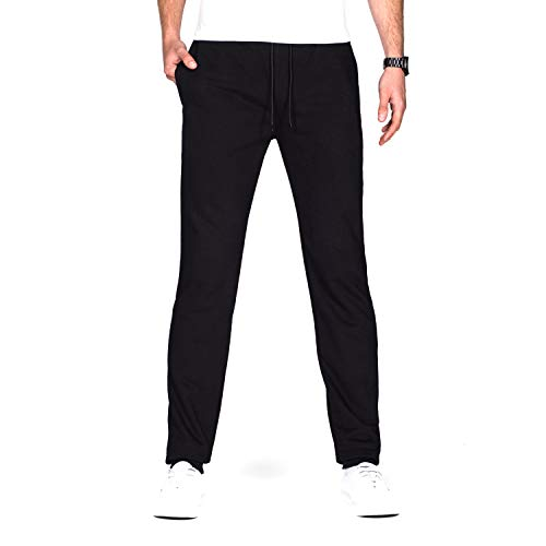 "Idtswch 34/36/38 Long Inseam Men's Tall Sweatpants Jogger Workout Pants (Black, M-Tall /38"" Inseam)"