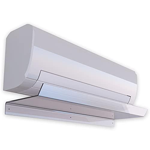Deflettore per Condizionatore Universale in plexiglass trasparente, Deflettore per Aria Condizionata 22x80cm, Deviatore per aria condizionata casa spessore 5mm ripara dal flusso d'aria diretto